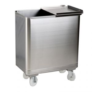 MC1011 trolley equipped stainless hopper - mm. 450X600XH700