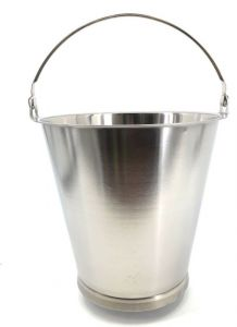 SE-G10B Cubo de acero inoxidable graduado 10 litros con base