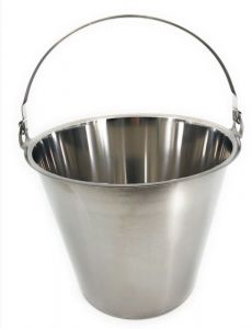 SE-G15 Stainless steel bucket graduated 15 liters